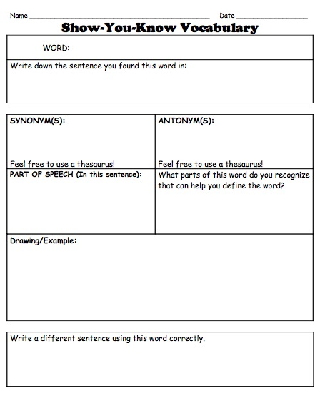 Marzano vocabulary worksheet mmosguides for Marzano vocabulary template